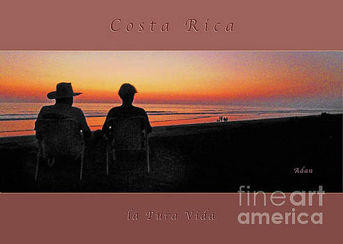 Felipe Adan Lerma - la Casita Playa Hermosa Puntarenas Costa Rica - Sunset Happy Couple Panorama Greeting Card Bold