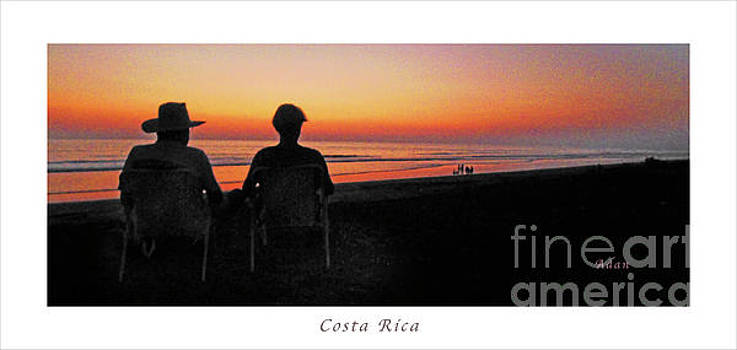 Felipe Adan Lerma - la Casita Playa Hermosa Puntarenas Costa Rica - Sunset Happy Couple Panorama Poster