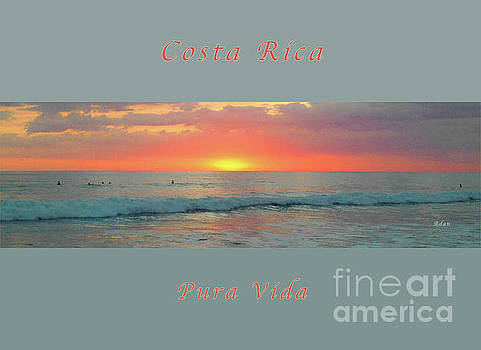 Felipe Adan Lerma - la Casita Playa Hermosa Puntarenas Costa Rica - Sunset Teal Panorama Greeting Card