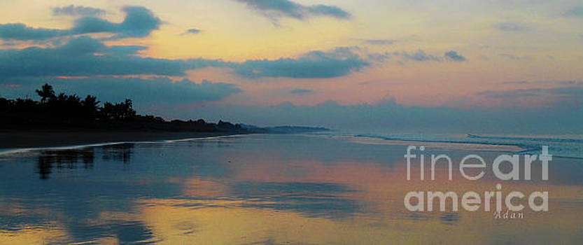 Felipe Adan Lerma - la Casita Playa Hermosa Puntarenas - Sunrise One - Painted Beach Costa Rica Panorama