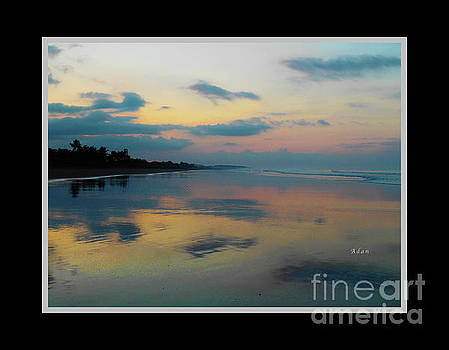 Felipe Adan Lerma - la Casita Playa Hermosa Puntarenas - Sunrise One - Painted Beach Costa Rica Poster no text