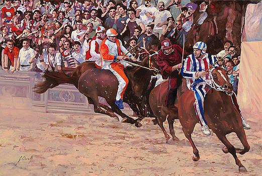 La Corsa Del Palio by Guido Borelli