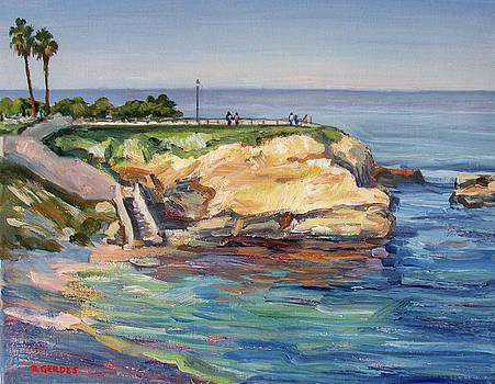 La Jolla Cove Reflections by Robert Gerdes