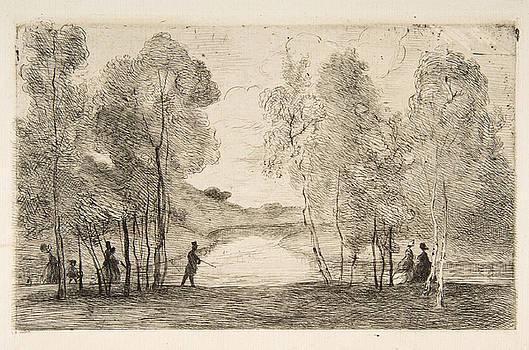 Felix Bracquemond - La Lac du Bois de Boulogne