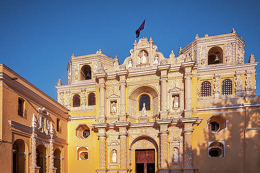 La Merced Church in sunset light - Antigua by Daniela Constantinescu