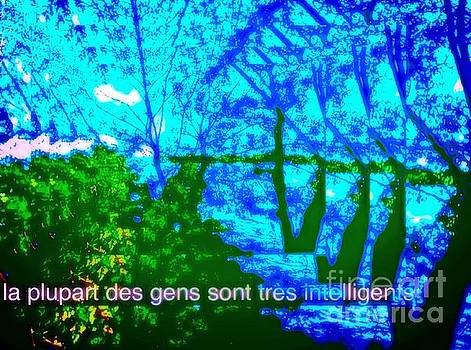 La plupart des gens sont tres intelligents / most people are very intelligent  by Contemporary Luxury Fine Art