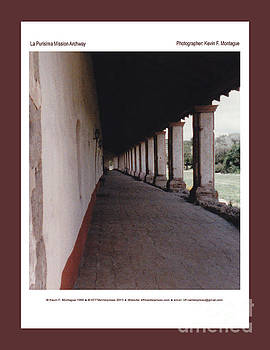 La Purisima Mission Archway by Kevin Montague