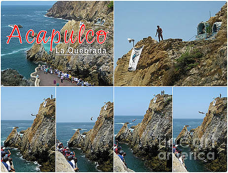 Tatiana Travelways - La Quebrada cliff divers collage poster