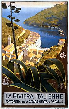 La Riviera italienne, travel poster for ENIT, ca. 1920 by Vintage Printery