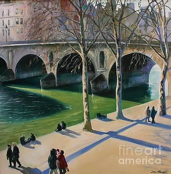 La Seine a Paris  by Lin Petershagen