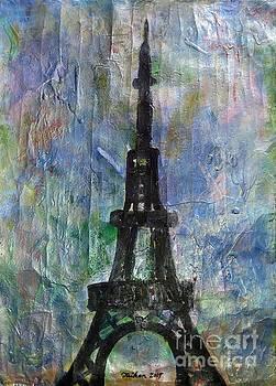 La Tour Eiffel by Taikan by Taikan Nishimoto