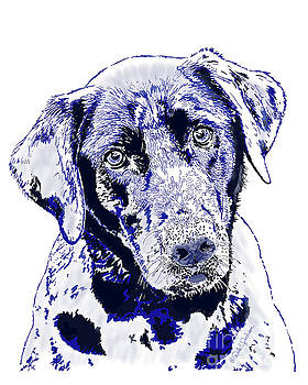 Labrador Dog With The Blues I by Dale E Jackson