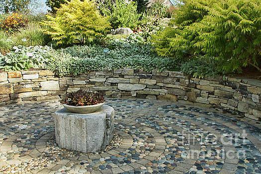Labyrinth Garden Detail by Marilyn Cornwell