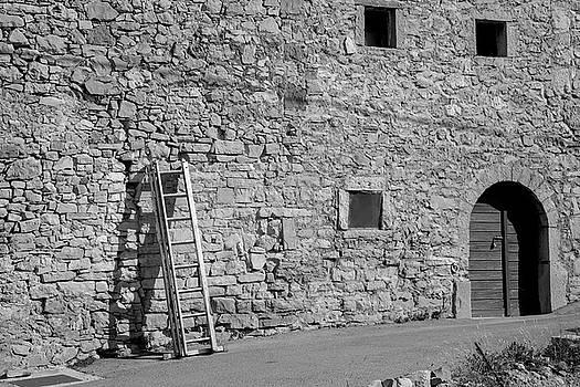 Ladder On The Wall by Matjaz Preseren