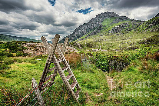 Ladder Stile To Tryfan by Adrian Evans