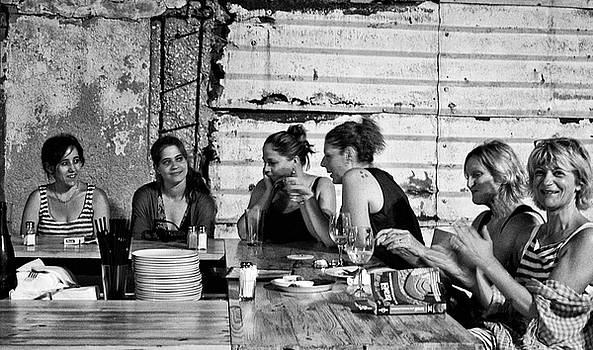 Ladies at Dinner by Michael Gora