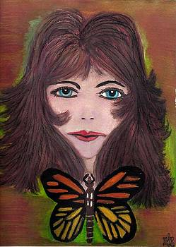 Lady and Butterfly by Mark Richard Luther