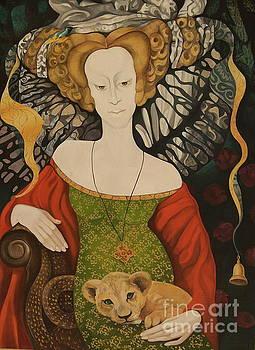 Lady and Cat. by Tatyana Binovska
