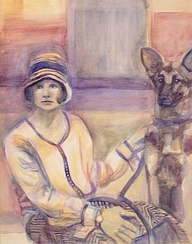 Lady and Dog by Marty Smith