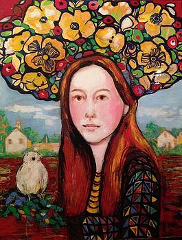 Lady at the farm by Marilene Sawaf