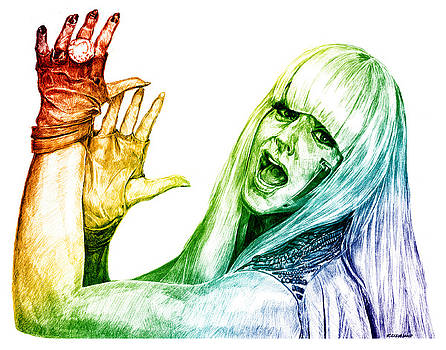 Lady Gaga Colors of Life by Richard W Cleveland