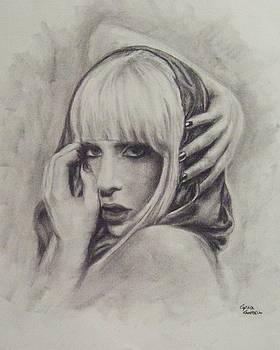 Lady Gaga Poker Face by Cynthia Campbell