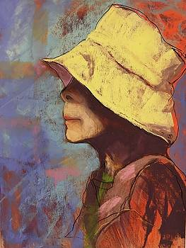 Lady In A Yellow Hat by Judy Pfeifer