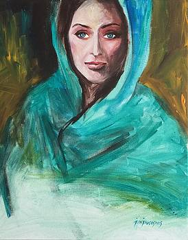 Lady In Blue by Jun Jamosmos