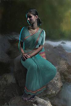 Lady in green by Shreeharsha Kulkarni