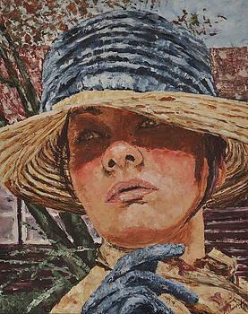 Lady in hat by Beata Belanszky-Demko