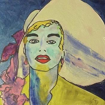 Lady in Hat by Dawn Dreibus