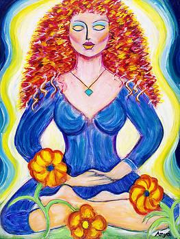Lady in Lotus Seat by Anya Heller