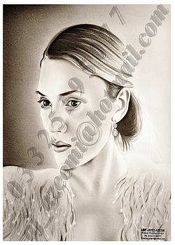Lady in Pencil and Charcoal by Asif Javed Azeemi