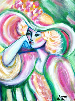 Lady in Pink and Green by Anya Heller