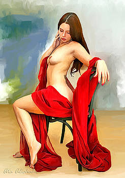 Lady in red by Ata Alishahi
