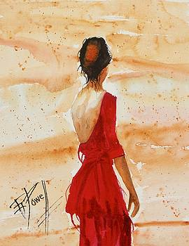 Lady In Red  by George Powell