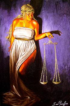 Laura Pierre-Louis - Lady Justice Long Scales