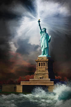 Lady Liberty - A Light in the Storm by Brent Borup