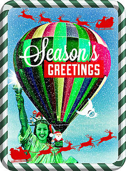 Lady Liberty Bids You Season's Greetings II by Aurelio Zucco