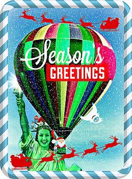 Lady Liberty Bids You Season's Greetings III by Aurelio Zucco
