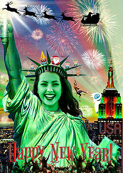 Lady Liberty Joins The Party by Aurelio Zucco