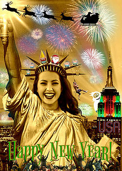 Lady Liberty Joins The Party II by Aurelio Zucco