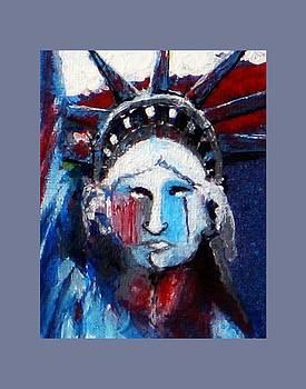 Lady Liberty Weeps by Kim Lentz