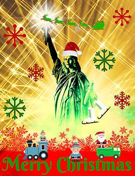 Lady Liberty's Got The Christmas Spirit by Aurelio Zucco