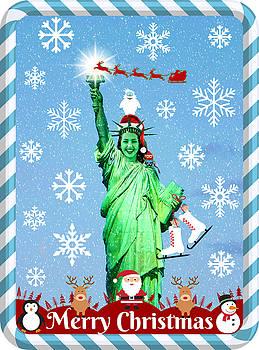 Lady Liberty's Got The Christmas Spirit V by Aurelio Zucco