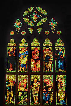 Lady of Angels Stain Glass by Joseph Hollingsworth