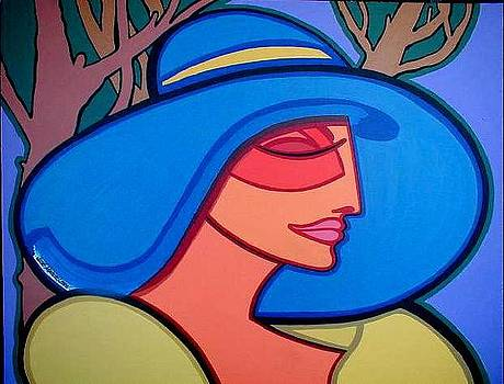 Lady of the blue hat by Jose Miguel Perez Hernandez