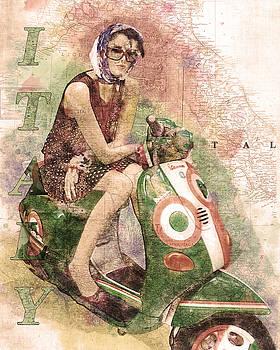Lady On A Vespa by Darin Williams