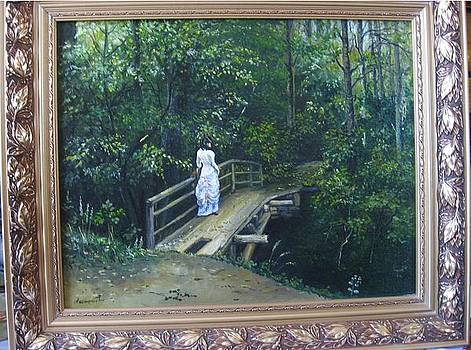 Lady on the bridge by Alexandra Akinfieva