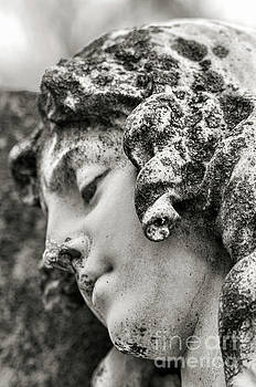 Lady Sculpture Head At Rest Mount Olivet Cemetery Nashville TN by Photo Captures by Jeffery